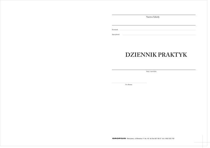 Dziennik Praktyk Studenta Dla Bibliotek Gropius