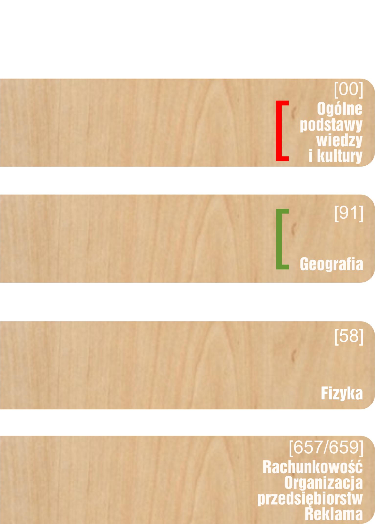 rozdzielacze działowe drewniane