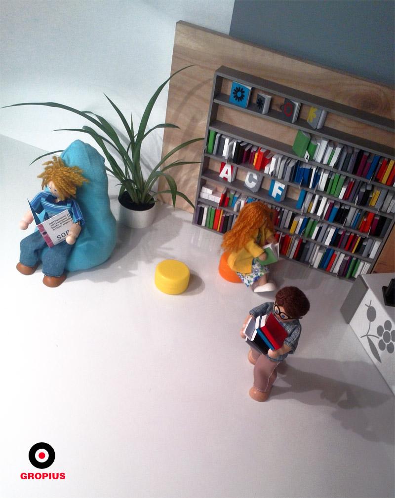 Aranżacja wnętrza mini biblioteki