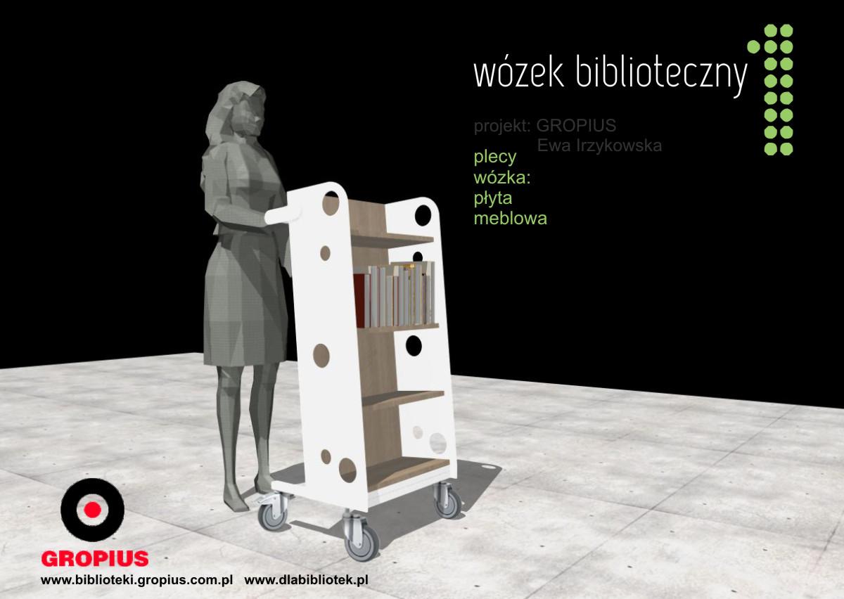 Wózki biblioteczne - indywidualny projekt